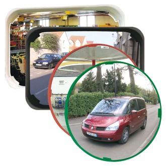 Miroir de surveillance polyvalent cadre rouge - Devis sur Techni-Contact.com - 3