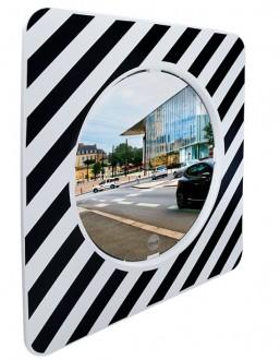 Miroir réglementaire d'agglomération sur poteaux - Devis sur Techni-Contact.com - 2