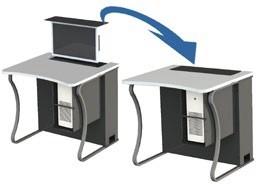 Mobilier scolaire multimédia à écran escamotable - Devis sur Techni-Contact.com - 3