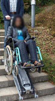 Monte escalier-droit pour fauteuil roulant - Devis sur Techni-Contact.com - 2