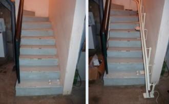 Monte-escaliers tournant double rails - Devis sur Techni-Contact.com - 2