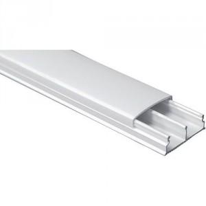 Moulure PVC blanc 2 compartiments - Devis sur Techni-Contact.com - 1