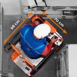 Nacelle élvatrice 5 mètres ultra compacte - Devis sur Techni-Contact.com - 3