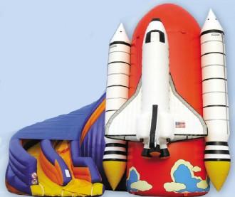 Navette spatiale gonflable avec Toboggan - Devis sur Techni-Contact.com - 1