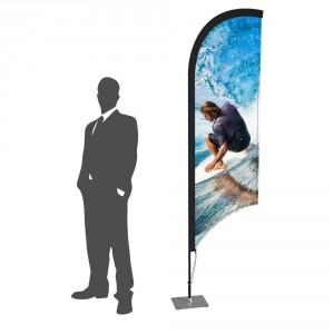 Oriflamme plume impression miroir 2 côtés - Devis sur Techni-Contact.com - 1