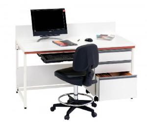 Paillasse de bureau avec dosseret - Devis sur Techni-Contact.com - 1