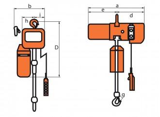 Palan électrique monophasé - Devis sur Techni-Contact.com - 2