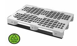Palette plastique alimentaire ajourée poids : 13,2 kg - Devis sur Techni-Contact.com - 1
