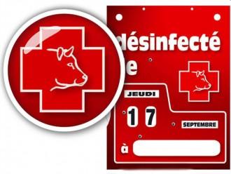 Pancarte date de désinfection - Devis sur Techni-Contact.com - 1