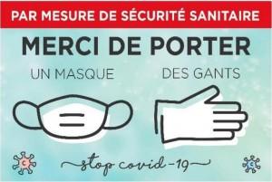Pancarte port du masque et de gants COVID - Devis sur Techni-Contact.com - 1