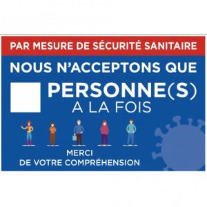 Pancarte mesure de sécurité sanitaire - Devis sur Techni-Contact.com - 1