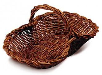 Panier à fruits en osier 45 à 65 cm de long - Devis sur Techni-Contact.com - 1