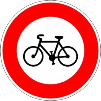 Panneau accès interdit au cycle B9b - Devis sur Techni-Contact.com - 1