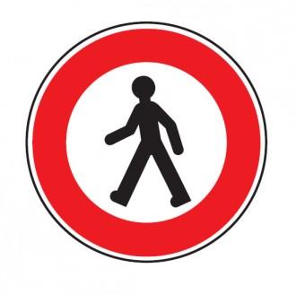 Panneau accès interdit au piéton B9a - Devis sur Techni-Contact.com - 1