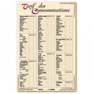 Panneau affichage des prix de consommations - Devis sur Techni-Contact.com - 1