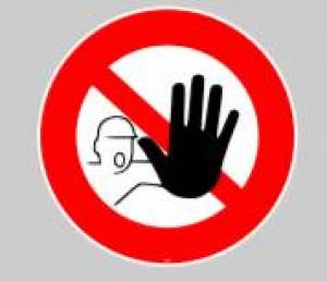Panneau au sol adhésif accès interdit - Devis sur Techni-Contact.com - 1
