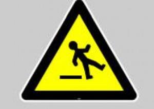 Panneau au sol adhésif attention sol glissant - Devis sur Techni-Contact.com - 1