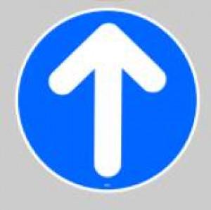 Panneau au sol adhésif flèche de direction - Devis sur Techni-Contact.com - 1