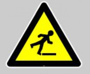 Panneau au sol adhésif risque de chute - Devis sur Techni-Contact.com - 1
