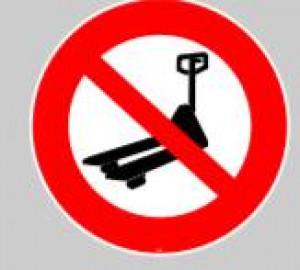 Panneau au sol adhésif trans-palette interdit - Devis sur Techni-Contact.com - 1