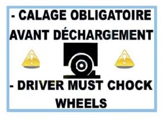 Panneau avertissement cale roue - Devis sur Techni-Contact.com - 1