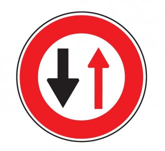 Panneau cédez passage circulation inverse B15 - Devis sur Techni-Contact.com - 1