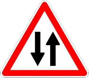 Panneau circulation double sens A18 - Devis sur Techni-Contact.com - 1