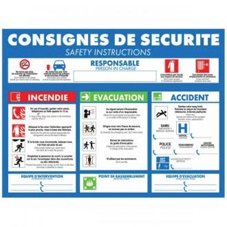 Panneau consigne d'urgence pour hôtels - Devis sur Techni-Contact.com - 1