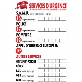 Panneau consigne d'urgence pour hôtels - Devis sur Techni-Contact.com - 2