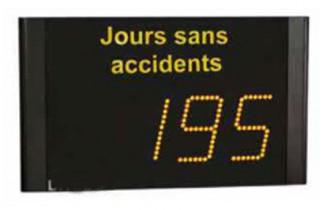 Panneau d'affichage jours sans accidents - Devis sur Techni-Contact.com - 1