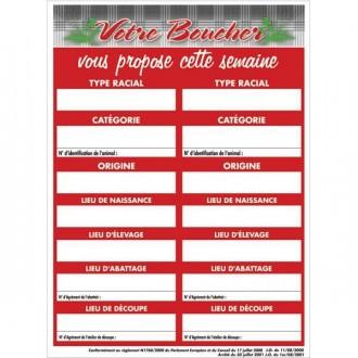 Panneau d'affichage pour boucherie - Devis sur Techni-Contact.com - 1