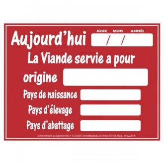 Panneau d'affichage pour boucherie - Devis sur Techni-Contact.com - 2