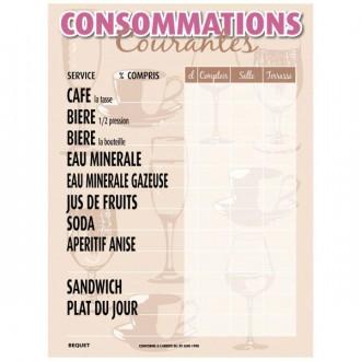 Panneau de tarif des consommations - Devis sur Techni-Contact.com - 2