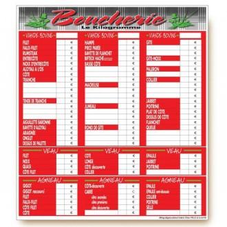Panneau d'affichage prix boucherie - Devis sur Techni-Contact.com - 1