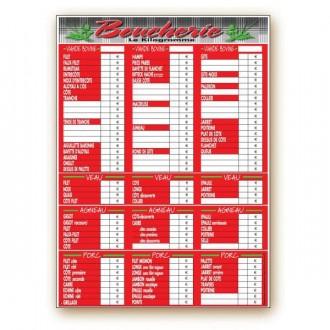Panneau d'affichage prix boucherie - Devis sur Techni-Contact.com - 10