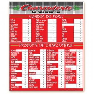 Panneau d'affichage prix boucherie - Devis sur Techni-Contact.com - 2