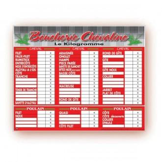 Panneau d'affichage prix boucherie - Devis sur Techni-Contact.com - 4