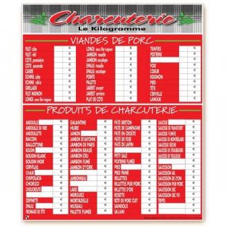 Panneau d'affichage prix boucherie - Devis sur Techni-Contact.com - 6