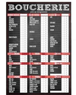 Panneau d'affichage prix pour boucherie - Devis sur Techni-Contact.com - 1