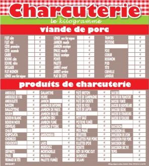 Panneau d'affichage prix viande - Devis sur Techni-Contact.com - 1