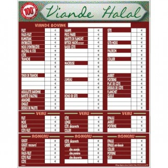 Panneau d'affichage prix viande halal - Devis sur Techni-Contact.com - 2