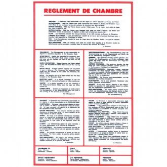 Panneau d'affichage règlement pour hôtel - Devis sur Techni-Contact.com - 1
