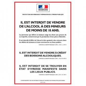 Panneau d'affichage réglementaire alcool - Devis sur Techni-Contact.com - 1