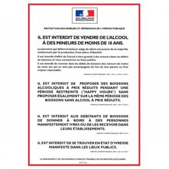 Panneau d'affichage réglementation vente d'alcool - Devis sur Techni-Contact.com - 1