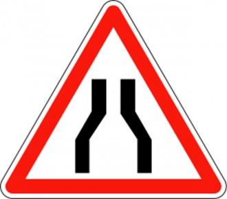 Panneau d'annonce de chaussée rétrécie A3 - Devis sur Techni-Contact.com - 1