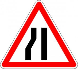 Panneau d'annonce de chaussée rétrécie par la gauche A3b - Devis sur Techni-Contact.com - 1