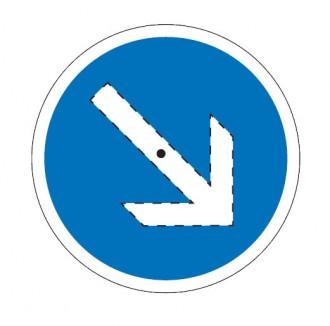 Panneau d'indication avec flèche pivotante seul BK21 - Devis sur Techni-Contact.com - 1