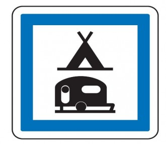 Panneau d'indication camping pour tentes et caravanes CE4c - Devis sur Techni-Contact.com - 1
