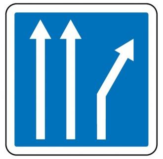 Panneau d'indication d'affectation de voies C24b - Devis sur Techni-Contact.com - 2