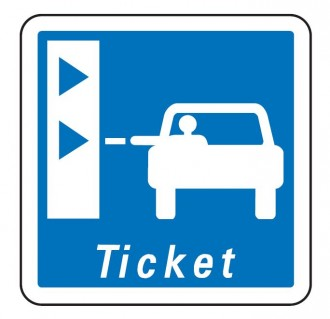 Panneau d'indication d'une borne de retrait de tickets de péage C62 - Devis sur Techni-Contact.com - 1